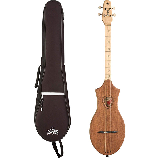 Seagull M4 Merlin G (Numbered Frets) Mahogany Dulcimer with M4 Gig Bag (40803)