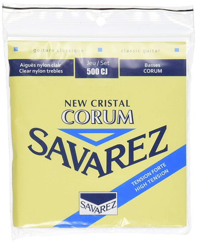 Savarez 500CJ Corum Cristal Classical Guitar Strings, High Tension, Blue Card (2 Pack)