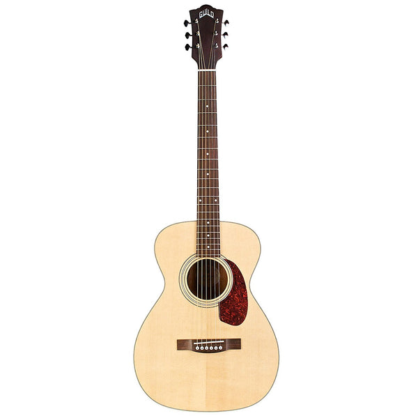 Guild M-240E Acoustic-Electric Guitar in Natural With Deluxe Gig Bag Guild M-240E Acoustic-Electric Guitar in Natural With Deluxe Gig Bag Acoustic-Electric Guitars Guild GuitarVault  - GuitarVault.com