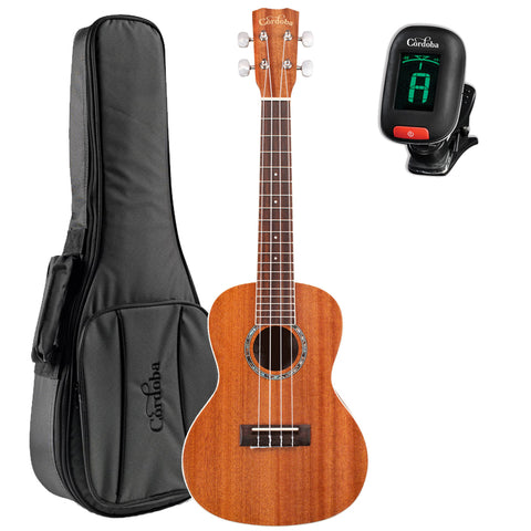 Cordoba 15CM Concert Acoustic Ukulele GuitarVault Package with Deluxe Concert Gig Bag and Cordoba Tuner Cordoba 15CM Concert Acoustic Ukulele GuitarVault Package with Deluxe Concert Gig Bag and Cordoba Tuner Ukuleles Cordoba guitarVault  - GuitarVault.com