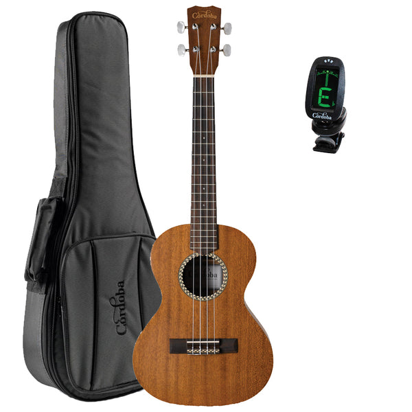 Cordoba 20TM Tenor Acoustic Ukulele GuitarVault Package with Deluxe Gig Bag and Tuner Cordoba 20TM Tenor Acoustic Ukulele GuitarVault Package with Deluxe Gig Bag and Tuner Ukuleles Cordoba GuitarVault  - GuitarVault.com