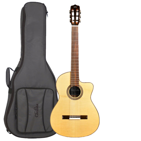 Cordoba Fusion 12 Natural SP (Spruce) Acoustic-Electric Nylon String Classical Guitar with Deluxe Gig Bag Cordoba Fusion 12 Natural SP (Spruce) Acoustic-Electric Nylon String Classical Guitar with Deluxe Gig Bag Nylon String Guitars Cordoba GuitarVault  - GuitarVault.com