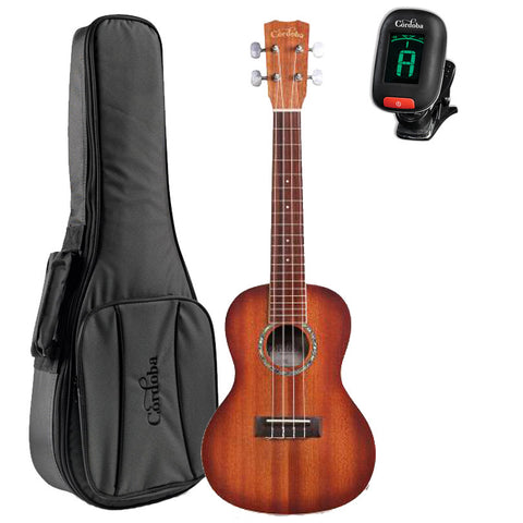Cordoba 15CM-E Sunburst Concert Acoustic-Electric Ukulele GuitarVault Package With Deluxe Gig Bag and Tuner Cordoba 15CM-E Sunburst Concert Acoustic-Electric Ukulele GuitarVault Package With Deluxe Gig Bag and Tuner Ukuleles Cordoba GuitarVault  - GuitarVault.com