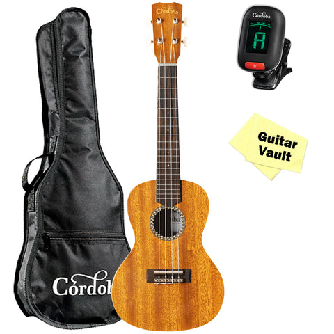 Cordoba 20CM Concert Ukulele with Gig Bag, Tuner and Polishing Cloth Cordoba 20CM Concert Ukulele with Gig Bag, Tuner and Polishing Cloth Ukuleles Cordoba GuitarVault  - GuitarVault.com