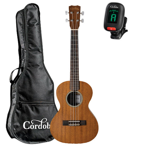 Cordoba 20TM Tenor Acoustic Ukulele guitarVault Package with Cordoba Gig Bag and Tuner Cordoba 20TM Tenor Acoustic Ukulele guitarVault Package with Cordoba Gig Bag and Tuner Ukuleles Cordoba guitarVault  - GuitarVault.com