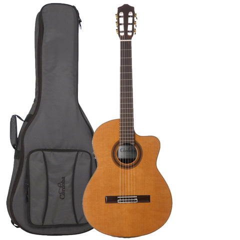 Cordoba C7-CE CD/IN Acoustic-Electric Nylon String Classical Guitar with Cordoba Deluxe Gig Bag Cordoba C7-CE CD/IN Acoustic-Electric Nylon String Classical Guitar with Cordoba Deluxe Gig Bag Nylon String Guitars Cordoba GuitarVault  - GuitarVault.com
