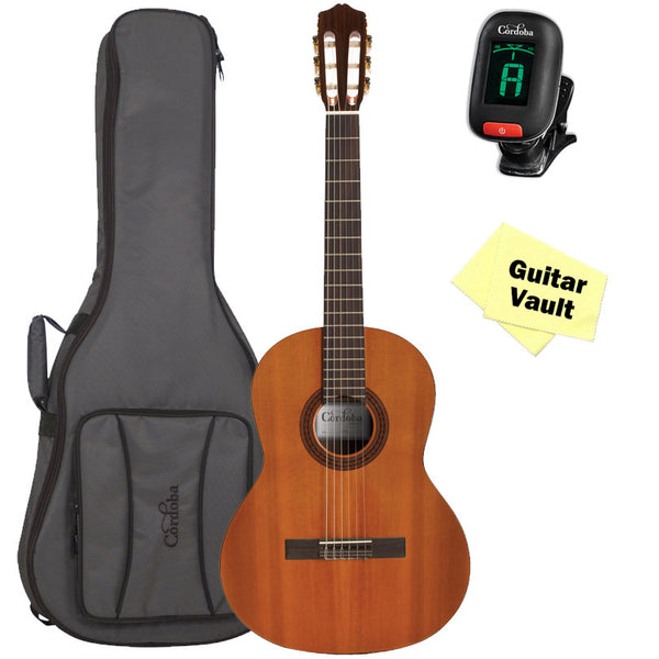 Cordoba Dolce 7/8 Scale Classical Guitar with Gig Bag, Tuner, and Polishing Cloth Cordoba Dolce 7/8 Scale Classical Guitar with Gig Bag, Tuner, and Polishing Cloth Nylon String Guitars Cordoba GuitarVault  - GuitarVault.com