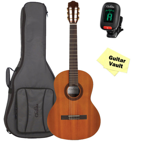 Córdoba Dolce 7/8 Scale Classical Guitar with Córdoba Deluxe Gig Bag amd Tuner Córdoba Dolce 7/8 Scale Classical Guitar with Córdoba Deluxe Gig Bag amd Tuner Nylon String Guitars Cordoba GuitarVault  - GuitarVault.com
