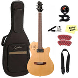 Godin A6 Ultra Natural Electro-Acoustic Guitar with Deluxe Gig Bag and Accessory Kit Godin A6 Ultra Natural Electro-Acoustic Guitar with Deluxe Gig Bag and Accessory Kit Acoustic-Electric Guitars Godin GuitarVault  - GuitarVault.com