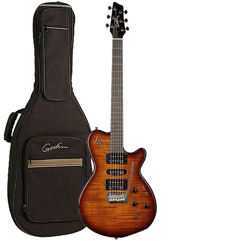 Godin XTSA Solid Body 3-Voice Electric Guitar With Gig Bag (Light Burst) Godin XTSA Solid Body 3-Voice Electric Guitar With Gig Bag (Light Burst) Solid Body Electric Guitars Godin GuitarVault  - GuitarVault.com