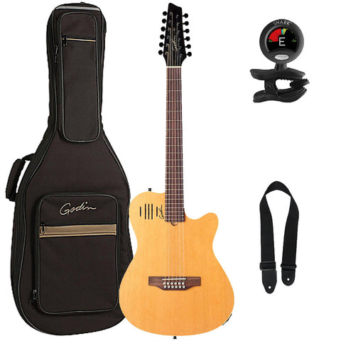 Godin A12 Acoustic-Electric 12-String Guitar with Gig Bag, Tuner, and Strap, Natural Godin A12 Acoustic-Electric 12-String Guitar with Gig Bag, Tuner, and Strap, Natural Acoustic-Electric Guitars Godin GuitarVault  - GuitarVault.com