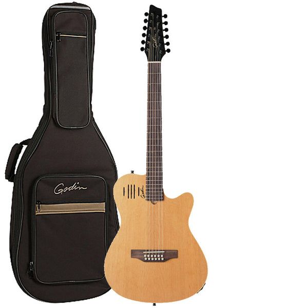 Godin A12 Two-Chambered Electric-Acoustic 12-String Guitar With Godin Gig Bag (Natural) Godin A12 Two-Chambered Electric-Acoustic 12-String Guitar With Godin Gig Bag (Natural) Acoustic-Electric Guitars Godin guitarVault  - GuitarVault.com