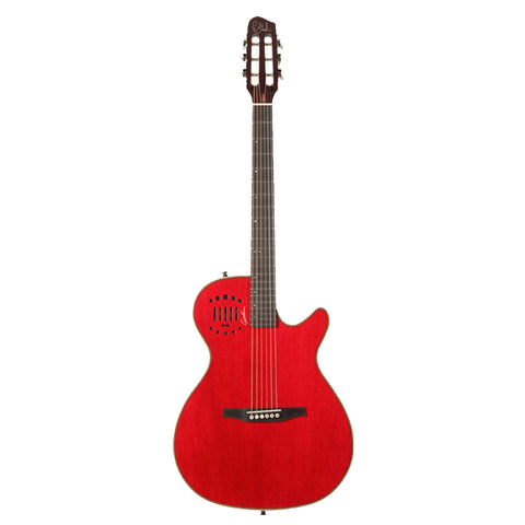 Godin Multiac Steel Series Hollow-Body Duet Ambiance Electric Guitar with Tric Case, Trans Red HG Godin Multiac Steel Series Hollow-Body Duet Ambiance Electric Guitar with Tric Case, Trans Red HG Semi-Hollow Electric Guitars Godin GuitarVault  - GuitarVault.com