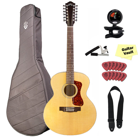 Guild F-2512E Westerly Jumbo Acoustic-Electric Guitar with Gig Bag and Accessory Pack Guild F-2512E Westerly Jumbo Acoustic-Electric Guitar with Gig Bag and Accessory Pack Acoustic-Electric Guitars Guild GuitarVault  - GuitarVault.com