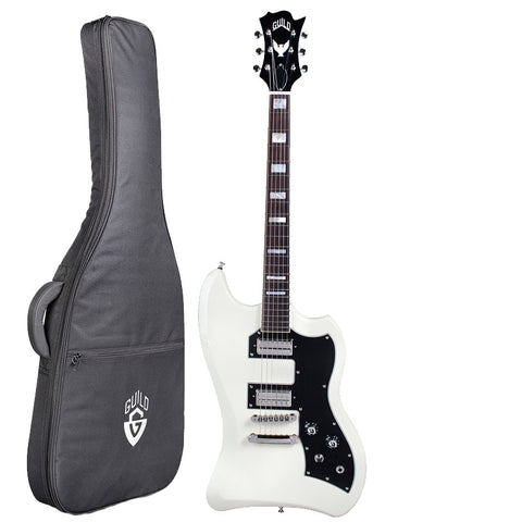 Guild Guitars T-Bird ST VWT Electric Guitar With Gig Bag, Vintage White Guild Guitars T-Bird ST VWT Electric Guitar With Gig Bag, Vintage White Solid Body Electric Guitars Guild GuitarVault  - GuitarVault.com