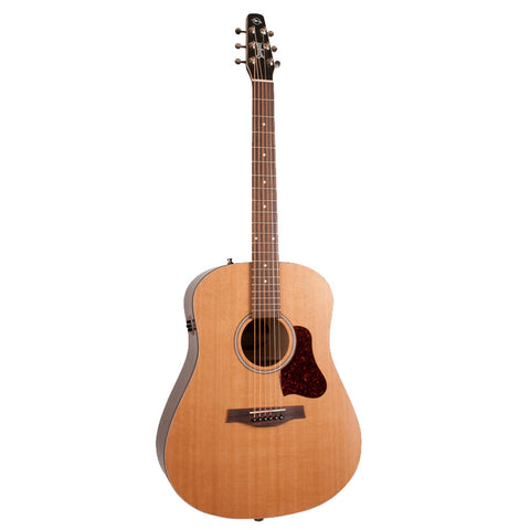 Seagull S6 Original QIT Dreadnought Acoustic-Electric Guitar, Natural  (046393)