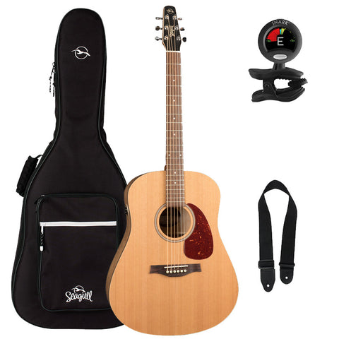 Seagull S6 Original QIT Acoustic-Electric Guitar With Seagull Padded Gig Bag and Accessory Pack Seagull S6 Original QIT Acoustic-Electric Guitar With Seagull Padded Gig Bag and Accessory Pack Acoustic-Electric Guitars Seagull GuitarVault  - GuitarVault.com