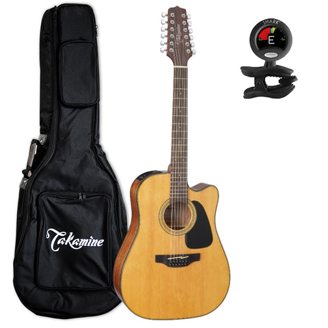 Takamine GD30CE-12NAT Dreadnought 12-String Cutaway Acoustic-Electric Guitar with Takamine Gig Bag and Tuner Takamine GD30CE-12NAT Dreadnought 12-String Cutaway Acoustic-Electric Guitar with Takamine Gig Bag and Tuner Acoustic-Electric Guitars Takamine GuitarVault  - GuitarVault.com