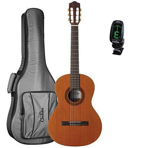 Cordoba Cadete 3/4 Size Classical Guitar with Cordoba 3/4 Size Deluxe Gig Bag and Tuner Cordoba Cadete 3/4 Size Classical Guitar with Cordoba 3/4 Size Deluxe Gig Bag and Tuner Nylon String Guitars Cordoba guitarVault  - GuitarVault.com