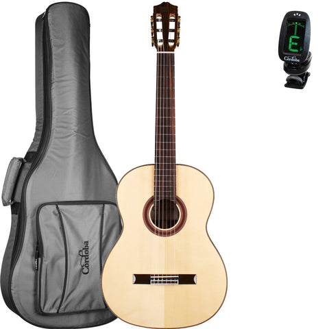 Cordoba C7 SP Acoustic Nylon String Classical Guitar Bundle With Gig Bag and Tuner Cordoba C7 SP Acoustic Nylon String Classical Guitar Bundle With Gig Bag and Tuner Nylon String Guitars Cordoba GuitarVault  - GuitarVault.com