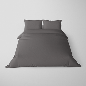 Made To Order - Charcoal Silk Doona Cover Set (QUEEN) - ORDER MARCH 1 - MARCH 5