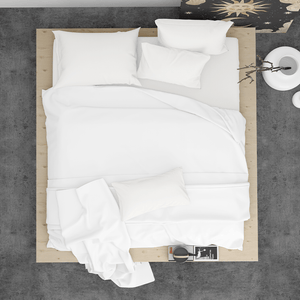 Made To Order - Off White Silk Sheet Set (QUEEN) - ORDER MARCH 1 - MARCH 5