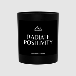 Damselfly Radiate Positivity - Large Candle
