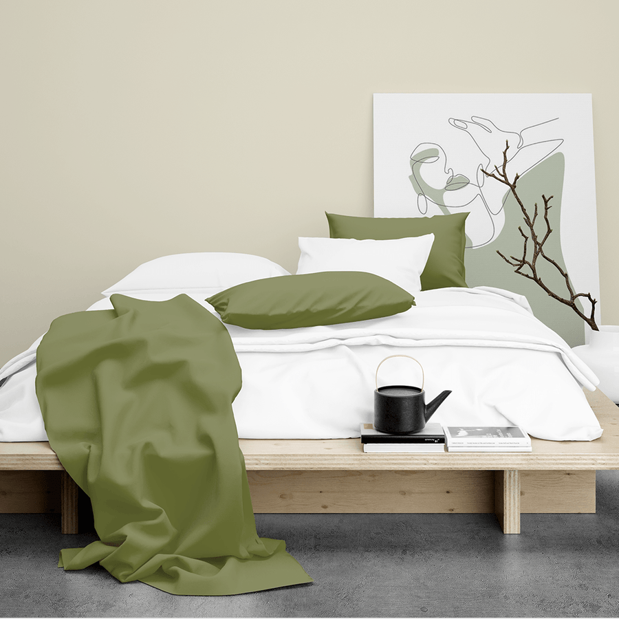 Made To Order - Sage Silk Sheet Set (QUEEN) - ORDER MARCH 1 - MARCH 5