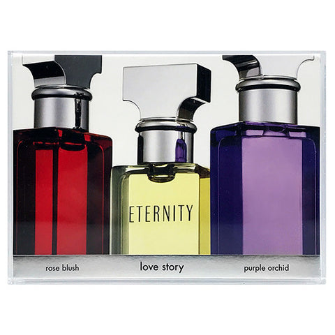 Eternity, Rose Blush, Purple Orchid Travel Set by Calvin Klein for Women