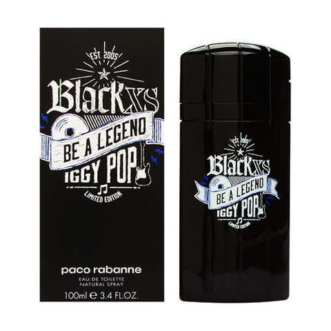 XS Black Be a Legend Iggi Pop by Paco Rabanne for Men