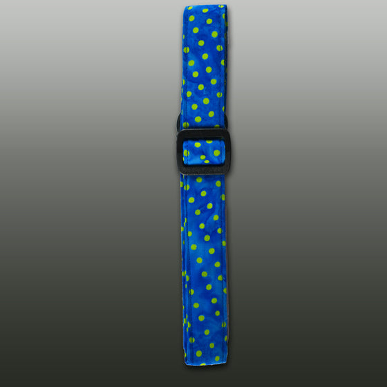 Blue w/Lime Dots Strap
