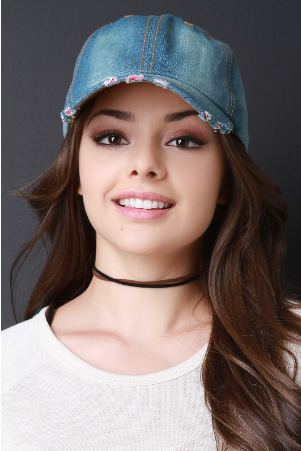 Distressed Denim Hat