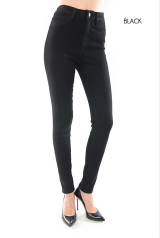 Black High Rise Skinny