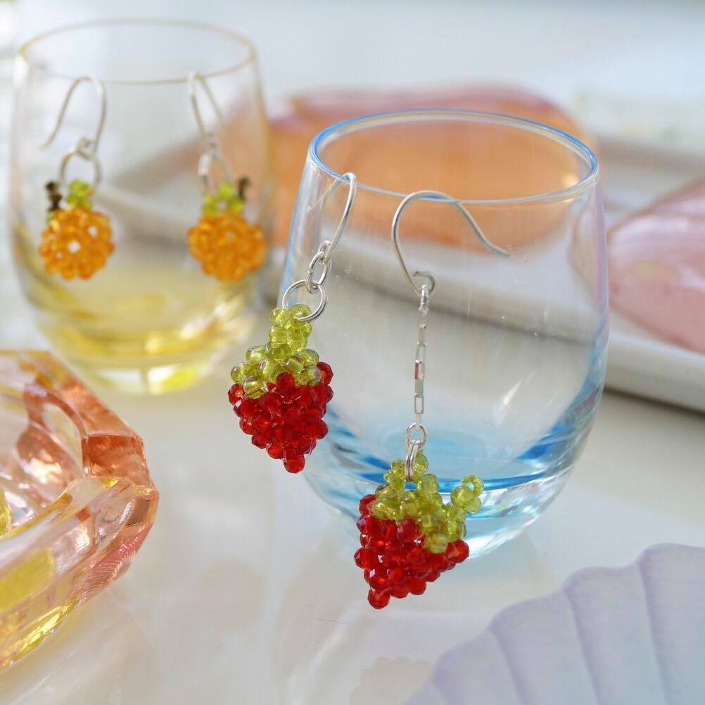 Crystal Jelli Strawberry Earrings
