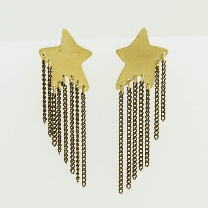Star Studded Fringe Earrings