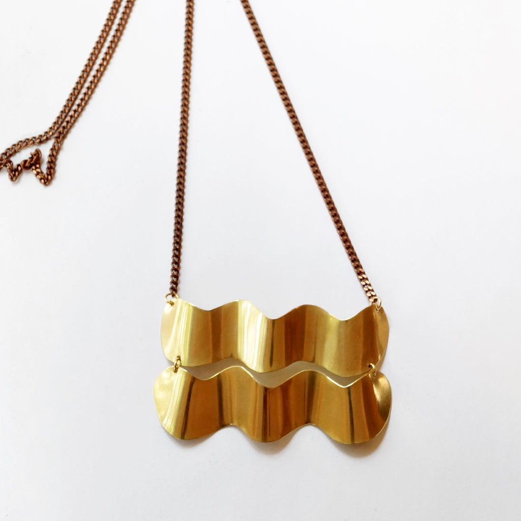 Double Wave Necklace