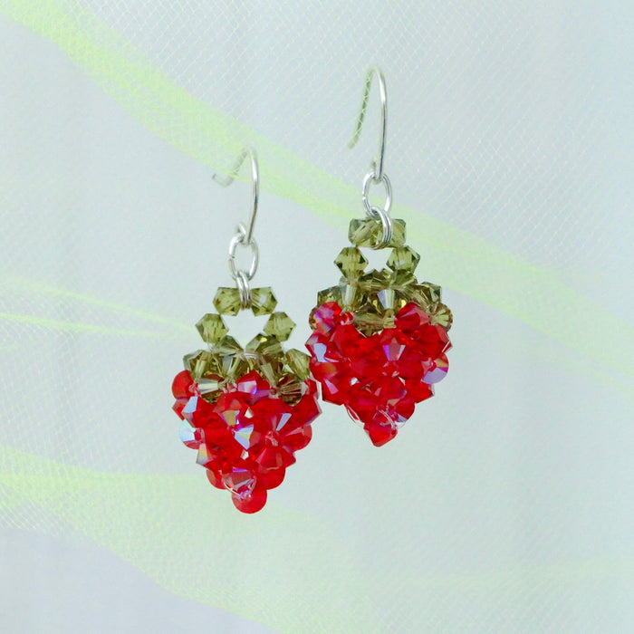 Crystal Jellies Strawberry Earrings