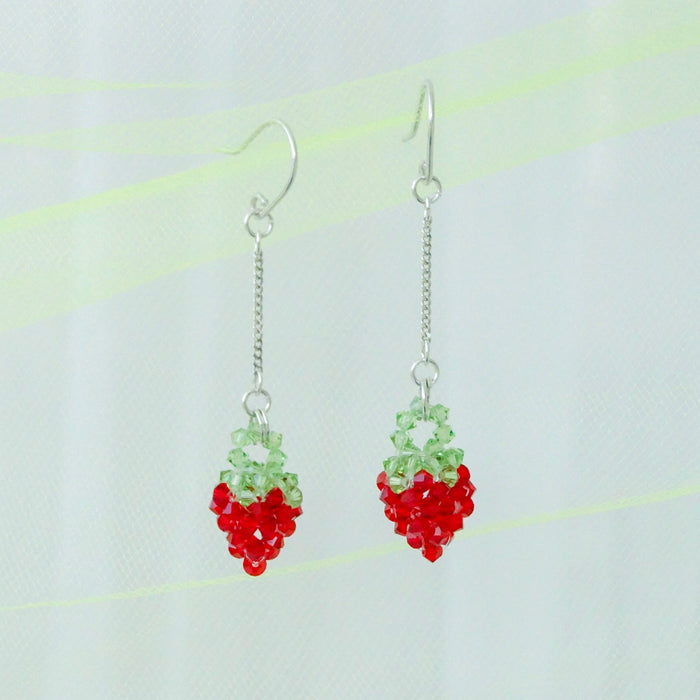 Crystal Jellies Strawberry Dangles