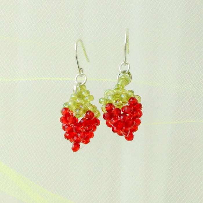 Glass Jelli's Strawberry Earrings