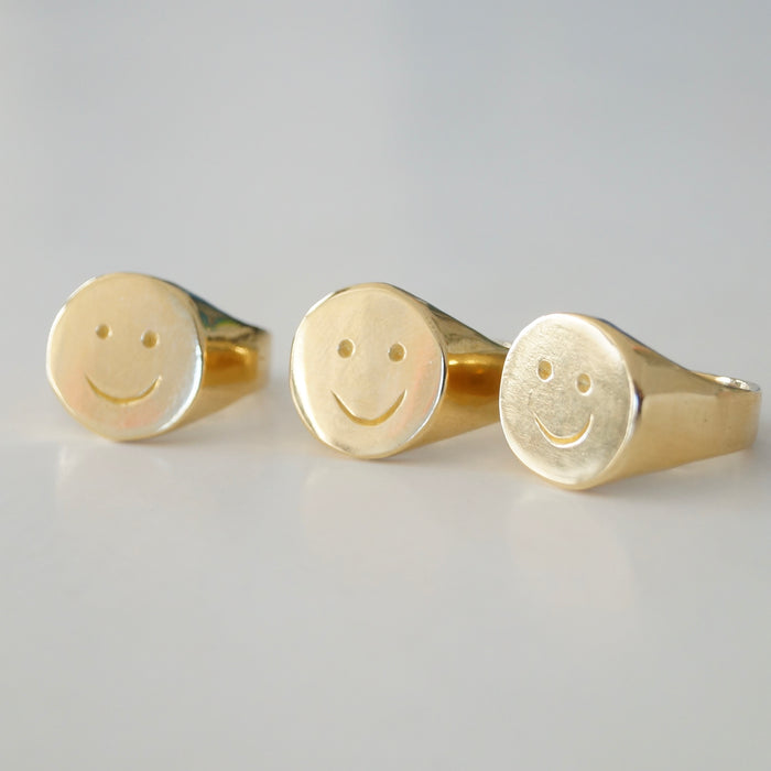 Golden Smiley Ring