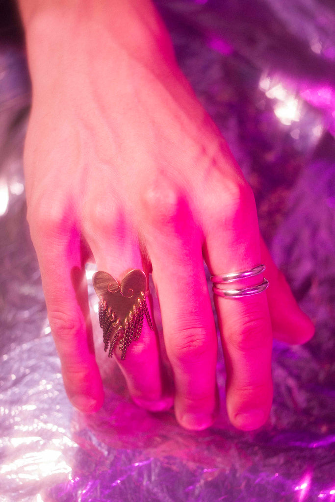 Little Fringe Heart Ring