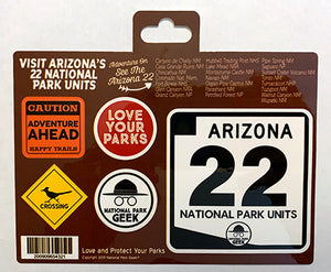 Arizona Roadsigns Sticker (includes shipping)