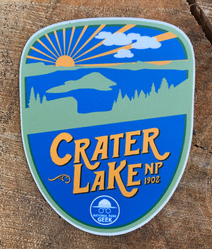 Crater Lake  Sticker (includes shipping)