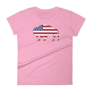 Bison Flag Woman's T-Shirt
