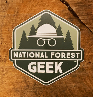 National Forest Geek Sticker (includes shipping)