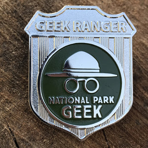 National Park Geek Badge Pin (includes US shipping)