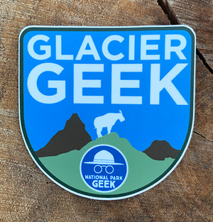 Glacier Geek Sticker (includes shipping)
