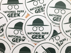National Park Geek Logo Sticker (includes shipping)
