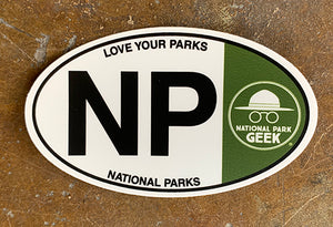 NP Oval Sticker (includes shipping)