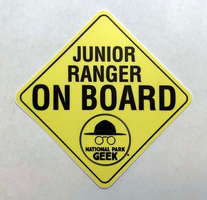Jr. Ranger On Board Sticker (includes shipping)
